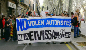 Demonstration in solidarity with Eivissa